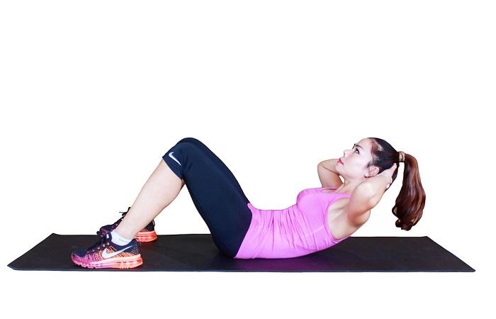 phương pháp giảm cân với bài gập bụng
