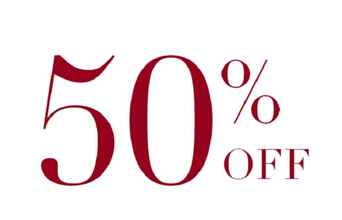 chương trình khuyến mãi giảm 50% chi phí