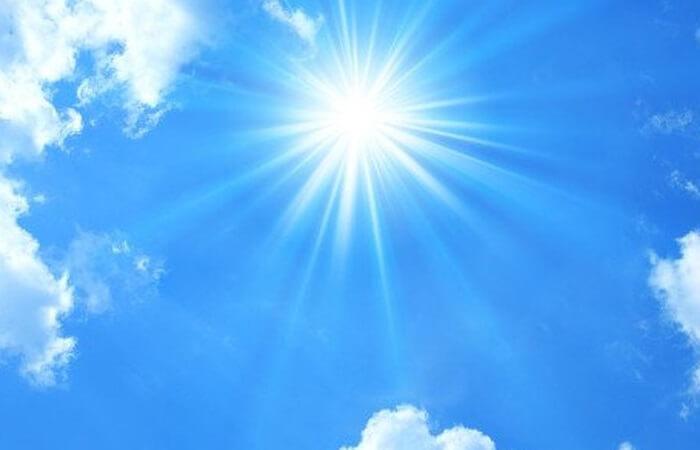 ánh sáng mặt trời sau 9h sáng