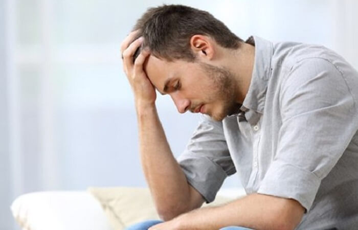stress cũng gây ra béo bụng cho các anh
